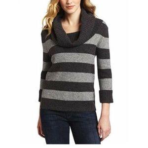 NWT Splendid Woman's Cozy Cowl Neck Stripe Sweater